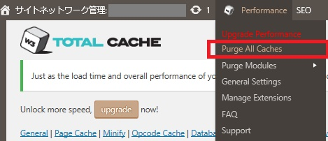 W3TotalChche-キャッシュの削除